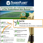 Our Economic Calendar won an Award!