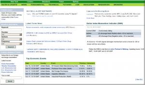 Website homepage 2006